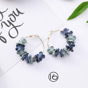 ❤️️NEW UNIQUE Flower Hoop Handmade Earrings G6